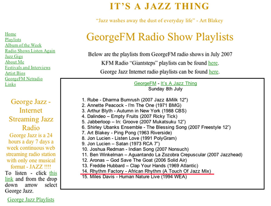 george-fm-playlist
